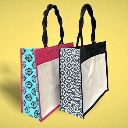 Large Jute Bag With Design